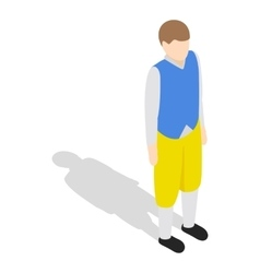Man wearing in traditional swedish costume icon vector image