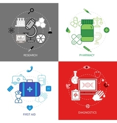 Medical Design Concept Icons Set vector image vector image