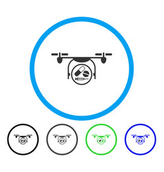 medication quadcopter rounded icon vector image vector image