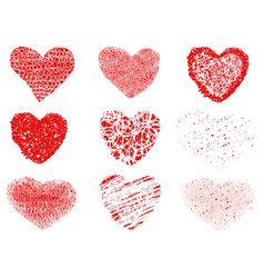 patterns of hearts vector image vector image
