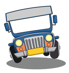 Philippine jeepney cartoon vector