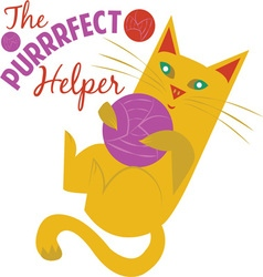 Purrrfect helper vector
