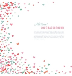 Romantic pink and blue heart background vector image vector image