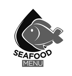 Seafood or fresh fish food market isolated vector