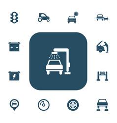 Set of 13 editable car icons includes symbols vector