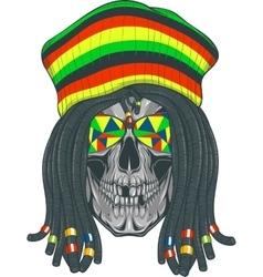 Skull Rastafarian vector image vector image