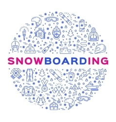 Snowboarding icon outline snowboard logo vector