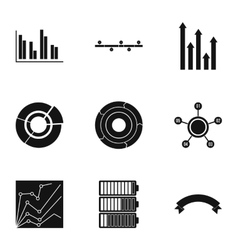 Success statistics icons set simple style vector