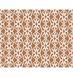 White forged lacing seamless pattern on brown vector