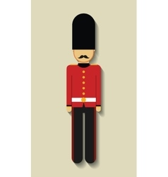 Soldier london england design vector