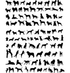 100 dogs vector