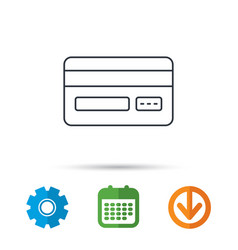credit card icon shopping sign vector image