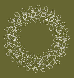 Laurel wreath floral decorative frame vector