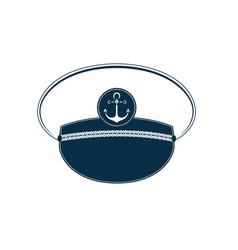 captain hat icon sailor cap marine outfit vector image