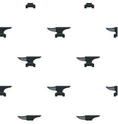 Heavy black metal anvil pattern flat vector