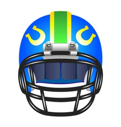 Football helmet with horseshoe vector image