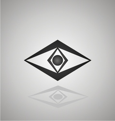 Eye logo design concept vector