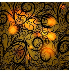 Autumn black lace vector
