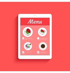 Ordering food in restaurant vector