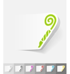 Realistic design element party horn vector