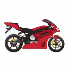 red sport motorcycle vector image