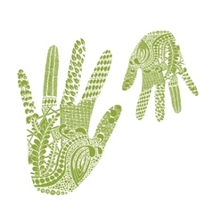 Floral palm hand drawn zentangle style for our vector image