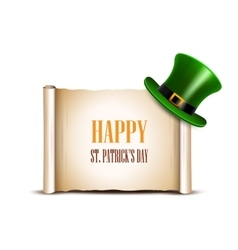 Saint patrick day card design vector