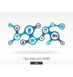 Technology growth abstract background with vector