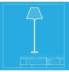 Lamp simple sign white section of icon on vector