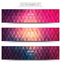Pink violet web banners set vector