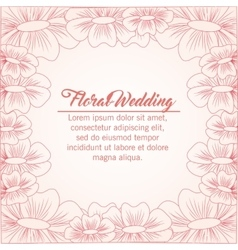Drawing flower icon floral wedding design vector