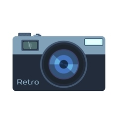 Digital photo camera isolated vector