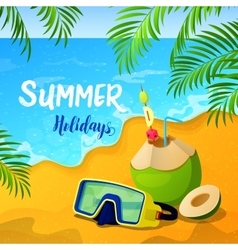 Summer holidays background with tropical seascape vector