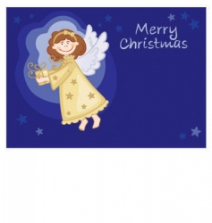 angel with gifts vector image vector image