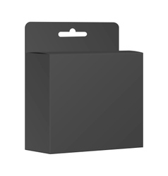 Blank Black Product Package Box vector image