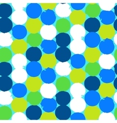 Bold geometric pattern with circles vector