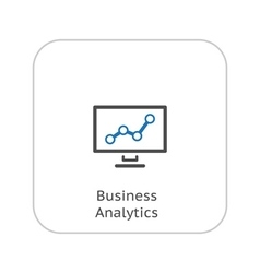 Business Analytics Icon Business Concept Flat vector image