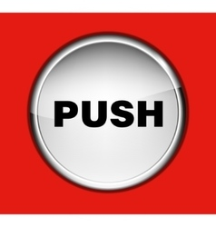 Button on the red background vector