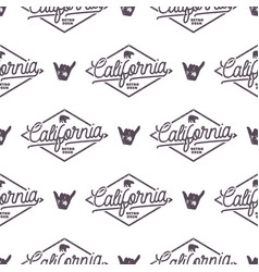 california surfing monochrome seamless pattern vector image
