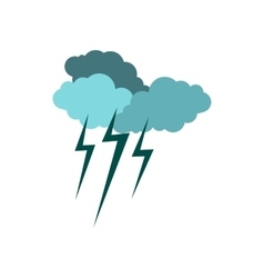 Clouds and storm icon flat style vector image vector image