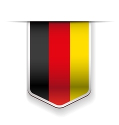 Germany flag ribbon vector
