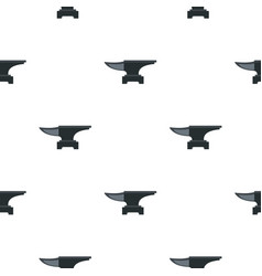Heavy black metal anvil pattern flat vector