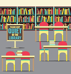 In The Library With Forbidden Poster vector image vector image