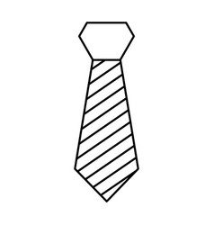 isolated fashion tie vector image