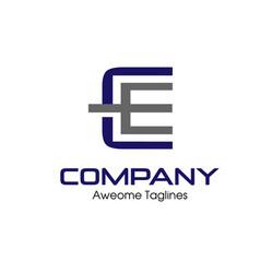 Letter ce logo vector