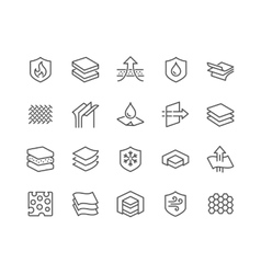 Line layered material icons vector