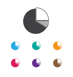 of statistic symbol on pie vector image vector image