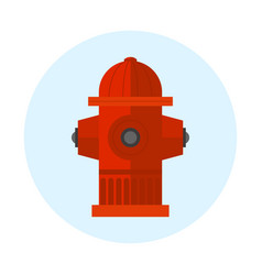 red fire hydrant metal vector image