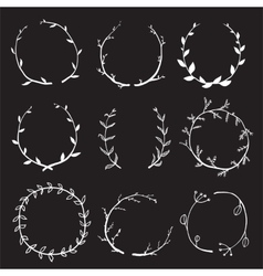 Rustic laurel and wreath collection for design on vector