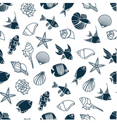 seamless pattern of vector image vector image